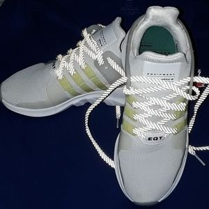 Adidas EQT White, Yellow, Lil hints of Pink